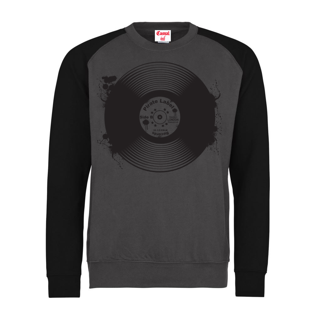 record-jumper(Baseball-Charcoal-GreyBlack)