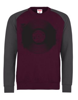 record-jumper(BurgandyCharcoal-Grey)