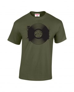 Records T-shirt military Green